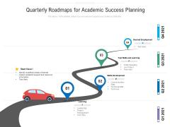 Quarterly Roadmaps For Academic Success Planning Topics