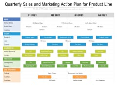 Quarterly Sales And Marketing Action Plan For Product Line Elements
