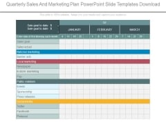 Quarterly Sales And Marketing Plan Powerpoint Slide Templates Download