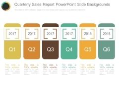 Quarterly Sales Report Powerpoint Slide Backgrounds