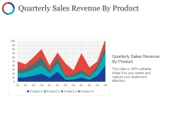 Quarterly Sales Revenue By Product Ppt PowerPoint Presentation Styles Slides