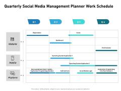 Quarterly Social Media Management Planner Work Schedule Microsoft