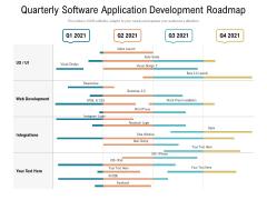 Quarterly Software Application Development Roadmap Brochure