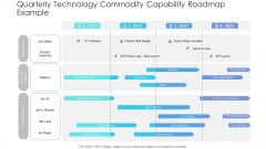 Quarterly Technology Commodity Capability Roadmap Example Brochure