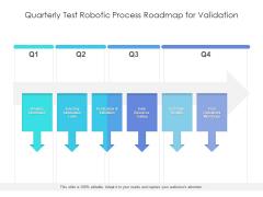 Quarterly Test Robotic Process Roadmap For Validation Slides