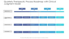 Quarterly Therapeutic Process Roadmap With Clinical Judgment Model Structure