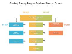 Quarterly Training Program Roadmap Blueprint Process Mockup