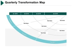 Quarterly Transformation Map Ppt PowerPoint Presentation Ideas Demonstration
