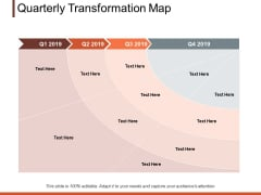 Quarterly Transformation Map Ppt PowerPoint Presentation Professional Guidelines