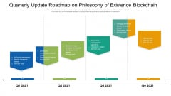 Quarterly Update Roadmap On Philosophy Of Existence Blockchain Professional