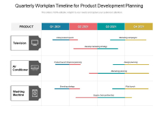 Quarterly Workplan Timeline For Product Development Planning Structure