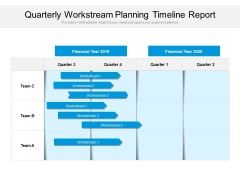Quarterly Workstream Planning Timeline Report Ppt PowerPoint Presentation Infographic Template Microsoft PDF
