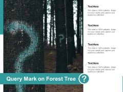 Query Mark On Forest Tree Ppt PowerPoint Presentation Professional Brochure
