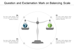 Question And Exclamation Mark On Balancing Scale Ppt Powerpoint Presentation Model Example