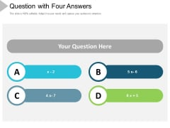 Question With Four Answers Ppt Powerpoint Presentation Outline Portrait