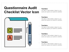 Questionnaire Audit Checklist Vector Icon Ppt PowerPoint Presentation Portfolio Model