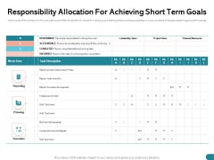 Quinns Incremental Model Responsibility Allocation For Achieving Short Term Goals Ppt Summary Diagrams PDF