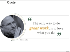 Quote Ppt PowerPoint Presentation Model Outline