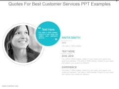 Quotes For Best Customer Services Ppt Examples