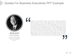 Quotes For Business Executives Ppt PowerPoint Presentation Show