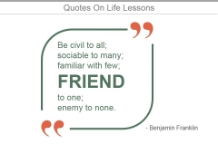 Quotes On Life Lessons Ppt PowerPoint Presentation Show