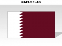 Qatar Country PowerPoint Flags