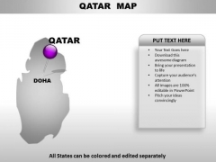 Qatar Country PowerPoint Maps