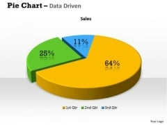 Quantitative Data Analysis 3d Percentage Ratio Pie Chart PowerPoint Templates