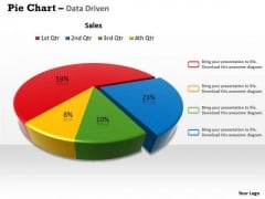 Quantitative Data Analysis 3d Pie Chart For Business Process PowerPoint Templates