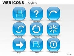 Question Mark Web Icons PowerPoint Slides And Ppt Diagram Templates