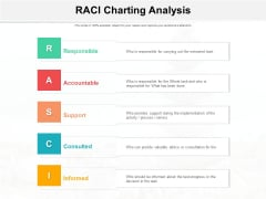 RACI Charting Analysis Ppt PowerPoint Presentation Summary Slides