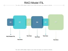 RACI Model ITIL Ppt PowerPoint Presentation Infographics Example Introduction Cpb Pdf