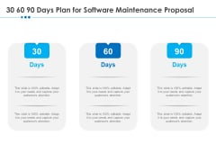 RFP Software Maintenance Support 30 60 90 Days Plan For Software Maintenance Proposal Guidelines PDF