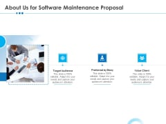 RFP Software Maintenance Support About Us For Software Maintenance Proposal Demonstration PDF