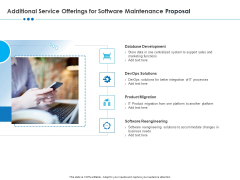 RFP Software Maintenance Support Additional Service Offerings For Software Maintenance Proposal Structure PDF
