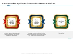 RFP Software Maintenance Support Awards And Recognition For Software Maintenance Services Summary PDF