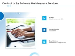 RFP Software Maintenance Support Contact Us For Software Maintenance Services Elements PDF
