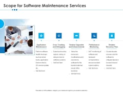 RFP Software Maintenance Support Scope For Software Maintenance Services Demonstration PDF