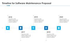 RFP Software Maintenance Support Timeline For Software Maintenance Proposal Ideas PDF
