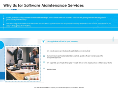 RFP Software Maintenance Support Why Us For Software Maintenance Services Introduction PDF