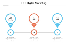 ROI Digital Marketing Ppt PowerPoint Presentation Outline Brochure Cpb