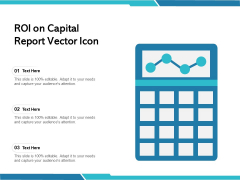 ROI On Capital Report Vector Icon Ppt PowerPoint Presentation Icon Samples PDF