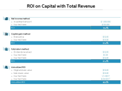 ROI On Capital With Total Revenue Ppt PowerPoint Presentation Summary Aids PDF