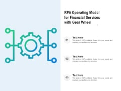 RPA Operating Model For Financial Services With Gear Wheel Ppt PowerPoint Presentation Layouts Tips PDF