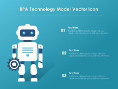 RPA Technology Model Vector Icon Ppt PowerPoint Presentation File Clipart PDF