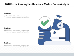 R And D Vector Showing Healthcare And Medical Sector Analysis Ppt PowerPoint Presentation File Sample PDF