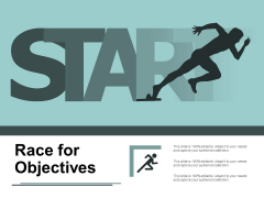 Race For Objectives Ppt PowerPoint Presentation Gallery Ideas