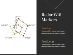 Radar With Markers Ppt PowerPoint Presentation Portfolio