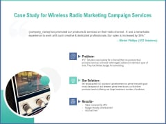 Radio Marketing Plan Product Launch Case Study For Wireless Radio Marketing Campaign Services Slides PDF