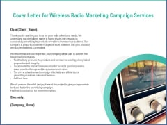 Radio Marketing Plan Product Launch Cover Letter For Wireless Radio Marketing Campaign Services Graphics PDF